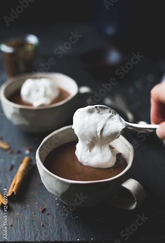 Staande foto Chocolade Vegan Mexican Hot Chocolate