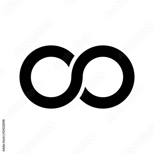 Stampa su Tela Infinity symbol icon, aka lemniscate, looks like sideways number eight