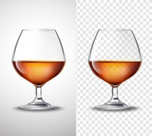 Wine Glass With Alcohol Transp...