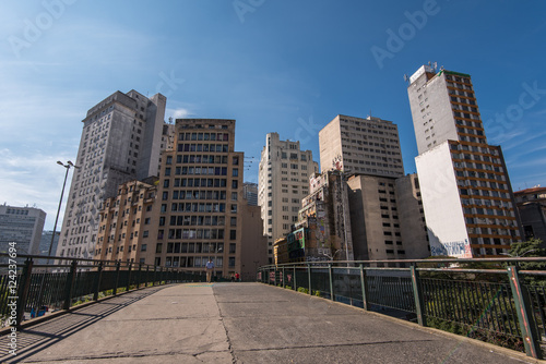 Buildings Around Bandeira Bus Terminal in Sao Paulo City Downtown
