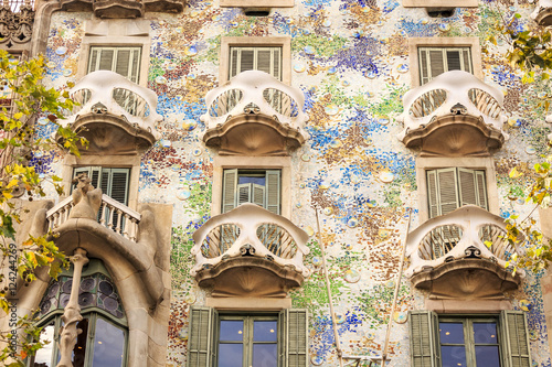 Casa Batllo by Antoni Gaudi in Barcelona, Spain Fototapet