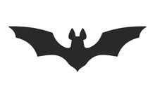 Halloween Bat Icon On White Background. Vector