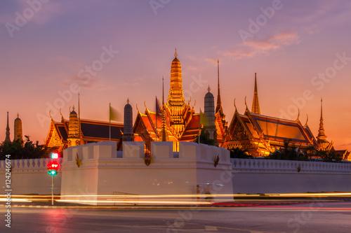 Aluminium Prints Bangkok Wat Phra Kaew Ancient temple in bangkok Thailand