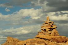 Rocky Altar In The Mongolian Desert