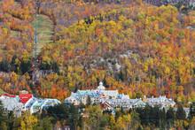 Mont Tremblant Village In Autumn;Laurentians Quebec Canada