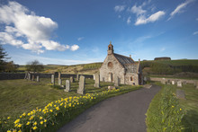 A Church And Cemetery;Scottish Borders Scotland