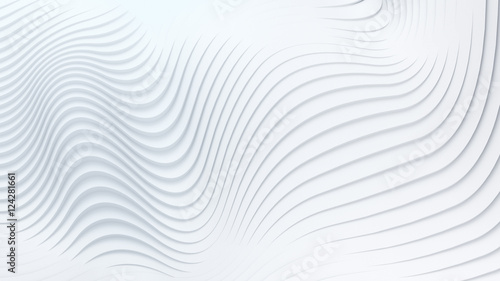 Fotobehang Abstract wave Wave band abstract background surface 3d rendering