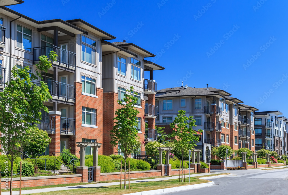 Fototapety, obrazy: Modern apartment buildings in Vancouver, British Columbia, Canada.