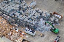 View Landfill Bird's-eye View. Landfill For Waste Storage