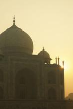 Sun Rising Over Taj Mahal; Agra, Uttar Pradesh, India