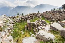 Treasury Of Corinthians; Delphi, Greece