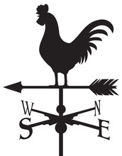 Rooster Weather Vane (weathercock Silhouette)