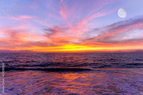 Photographie  Sunset Ocean Moon