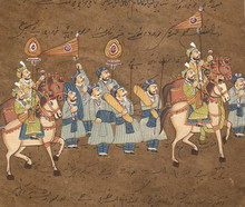 Procession Of Maharajah On Hor...