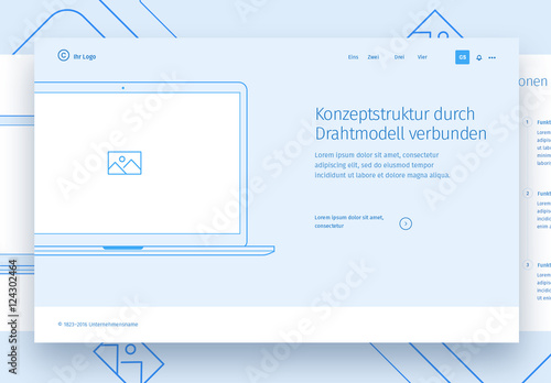 Landingpage-Drahtmodelle. Buy this stock template and explore ...