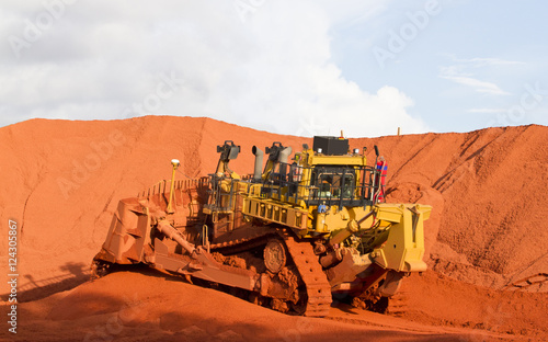 Piles of mining Bauxite in Weipa, Queensland, Australia Bauxite is an aluminum ore and is the main source of aluminum Canvas Print