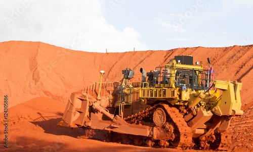 Piles of mining Bauxite in Weipa, Queensland, Australia Bauxite is an aluminum ore and is the main source of aluminum Wallpaper Mural