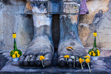 Wat Saphan Hin At Sukhothai Historical Park.