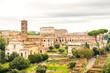 ruins of roman empire in rome, italy