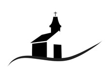 Vector Silhouette Of A Church.