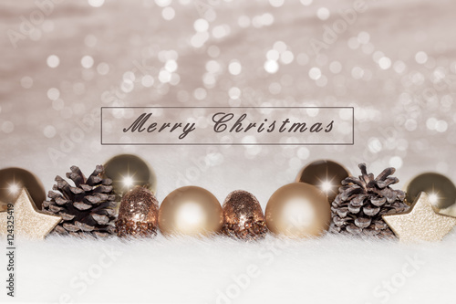 Golden silver christmas background. golden christmas decorations