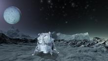 Auf Einem Planeten Gelandete Forschungsstation