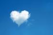 Leinwandbild Motiv heart shaped cloud in the blue sky