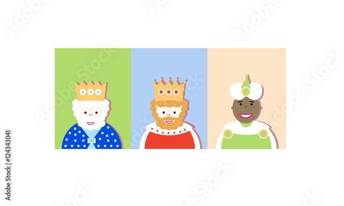 Photo Stands Illustrations Los Reyes magos de Oriente