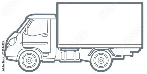 фотография  line commercial truck
