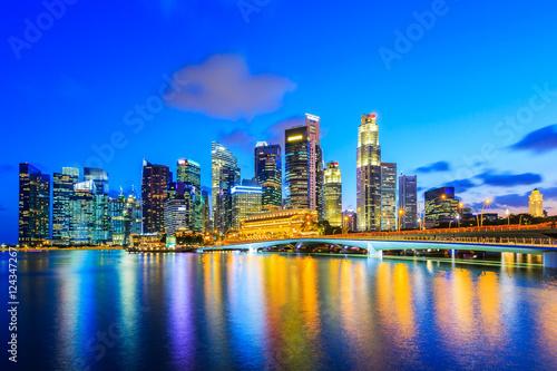 Tuinposter Singapore Singapore city skyline.