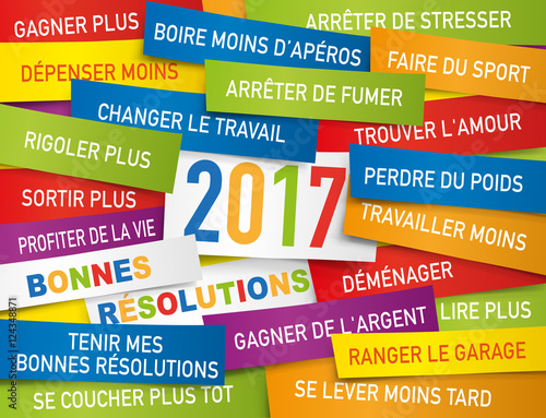 2017 - Carte de vœux - Bonnes résolutions Fototapete