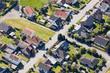 Siedlung mit Häusern in einer Kleinstadt