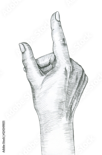 hand gesture of a single pointing finger hand drawing in pencil illustration isolated on white background buy this stock illustration and explore similar illustrations at adobe stock adobe stock single pointing finger hand drawing