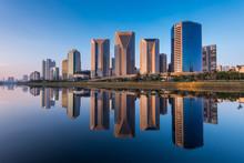 Modern Buildings Reflection In...