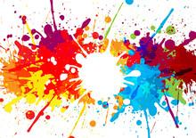 Abstract Splatter Multi Color Background. Illustration Vector De