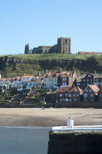 Whitby Harbour And St Marys Church