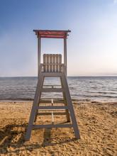 Empty Lifeguard Post