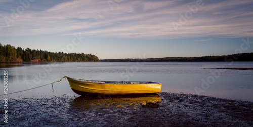 yellow rowboat Fototapet