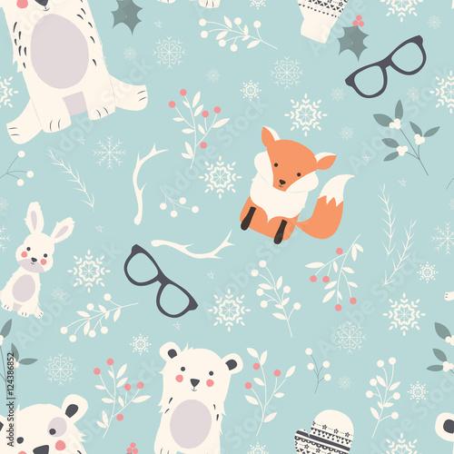 bezproblemowa-wesolych-swiat-z-uroczymi-polarnymi-zwierzetami-niedzwiedziami
