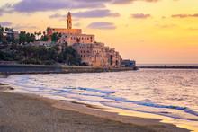 Old Town Of Yafo, Tel Aviv, Israel, On Sunset