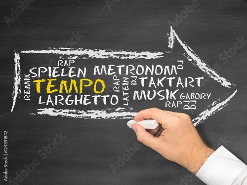 Tempo (Musik) Canvas Print