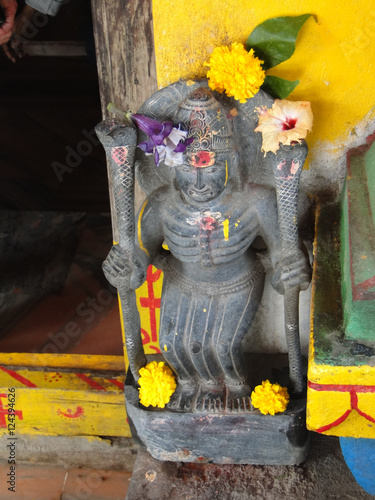 Guardian spirit protecting entrance of Shiva temple Poster