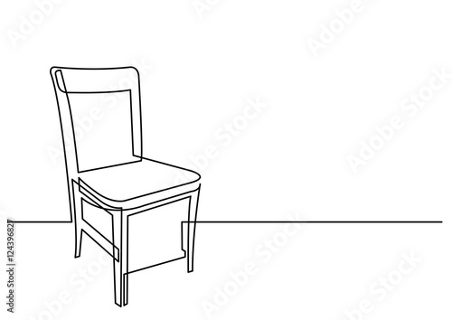 Fotografia continuous line drawing of chair