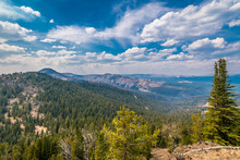 View From Mt. Washburn In Yell...