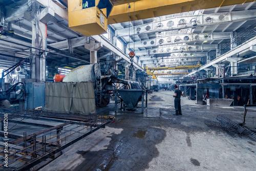 Foto op Plexiglas Plant of building materials interior