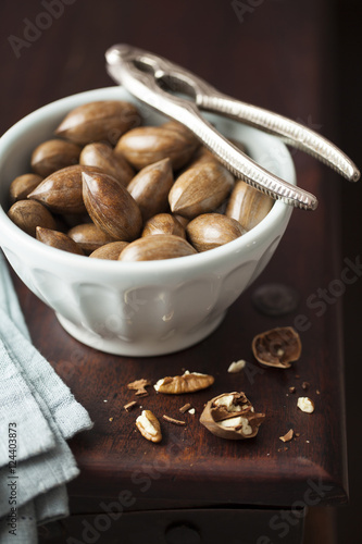Pecan Nuts in Bowl