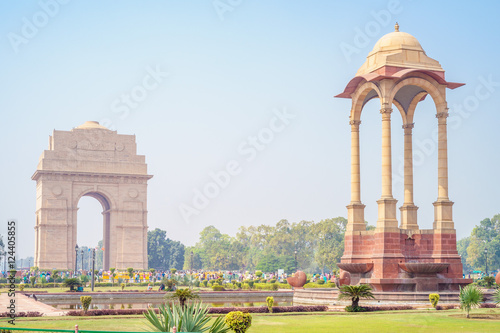 Fotografie, Obraz  Canopy and India Gate in New Delhi, India