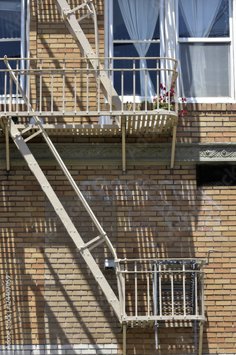 Photo  fire escape in  San Francisco , building with windows and emerg