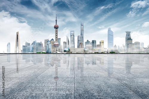 Wall Murals Shanghai Modern city skyline