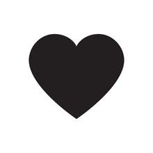 Black Heart Vector Isolated